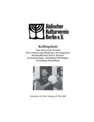 Kolloquium - Jüdisches Leben in Berlin