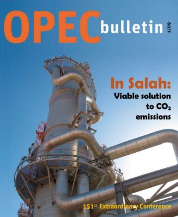 January 2009 edition of the OPEC Bulletin