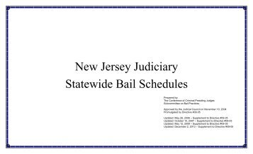 Bail Schedule 2 - New Jersey Courts