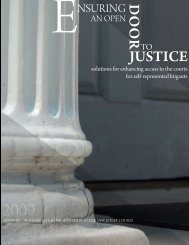 Report on Ensuring an Open Door to Justice - New Jersey Courts