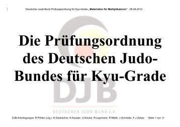 Die Prüfungsordnung für Kyu-Grade - Deutscher Judobund eV