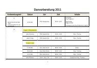 Danvorbereitung 2011 - Judo Landesverband Steiermark