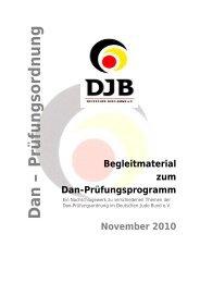 Begleitmaterial DJB Dan-Prüfungsprogramm 2010