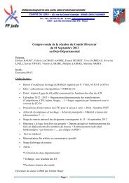 Compte-rendu de la réunion du Comité Directeur du 01 Septembre ...
