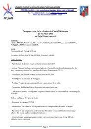 Compte-rendu de la réunion du Comité Directeur du 03 mars 2013 ...