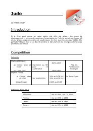Introduction Compétition - Ligue de Franche-Comté de Judo
