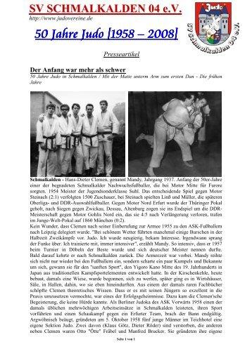 Artikelserie 50 Jahre - SV Schmalkalden 04 eV Judo