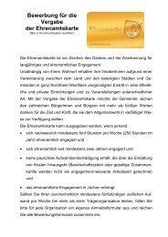 Bewerbung für die Vergabe der Ehrenamtskarte - Gemeinde Jüchen