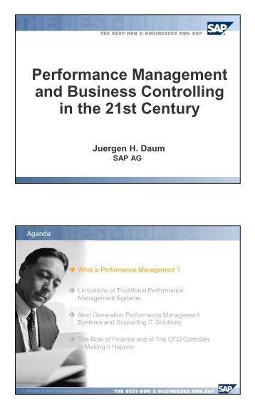 Performance Management and Business ... - Juergen Daum