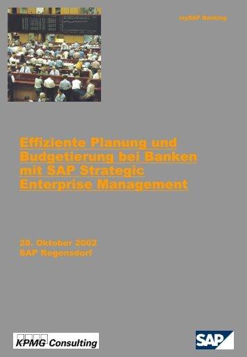 Effiziente Planung und Budgetierung bei Banken ... - Juergen Daum