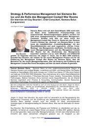 Strategy & Performance Management bei Siemens ... - Juergen Daum