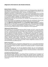 Allgemeine Informationen über Bodenrichtwerte