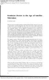 Feminine desire in the age of satellite television