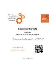 Experimentierheft-IdeenExpo 2013 - juFORUM eV