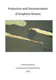 Production and Characterization of Graphene Devices