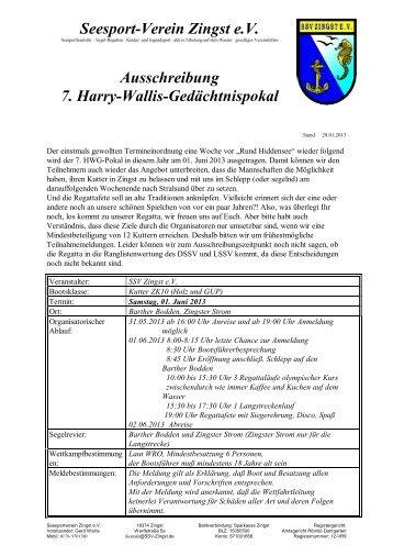 Ausschreibung HWG-Pokal