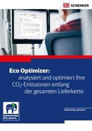 Eco Optimizer: analysiert und optimiert Ihre CO2 ... - DB Schenker