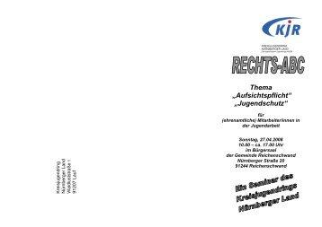 """Thema """"Aufsichtspflicht"""" - Jugendarbeit in Mittelfranken"""