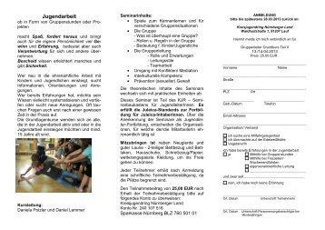 Jugendarbeit in Mittelfranken