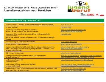 17. bis 20. Oktober 2012 - Jugend & Beruf