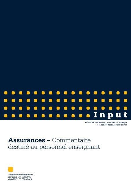 Assurances-commentaire.pdf - Jugend und Wirtschaft