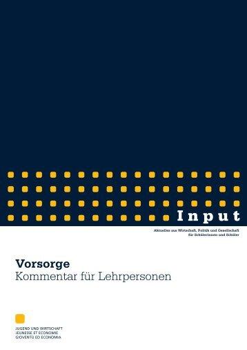 Vorsorge-Kommentar.pdf - Jugend und Wirtschaft