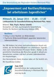 Einladungsflyer - Landeszentrale für Gesundheitsförderung in ...
