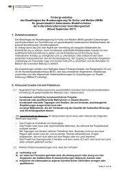 Fördergrundsätze BKM kulturell-künstlerische ... - Jugend.rlp.de