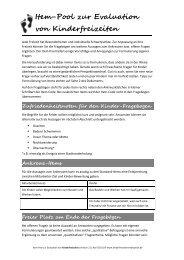 Item-Pool zur Evaluation von Kinderfreizeiten - Jugend.rlp.de