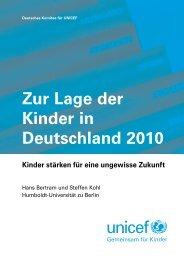 Zur Lage der Kinder in Deutschland 2010 - Leopoldina