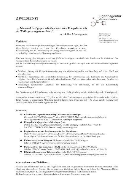 DZ.07.03 - Zivildienst - jugendagentur nürtingen