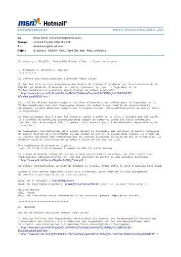 Olivier Karrer  - CEED: Enlèvements d ...