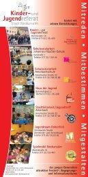 Mitreden · Mitbestimmen · Mitgestalten - Kommunale Jugendarbeit ...