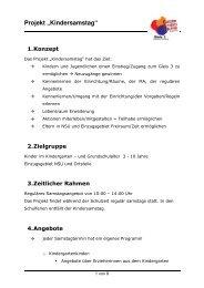 """Projekt """"Kindersamstag"""" - Kommunale Jugendarbeit Neckarsulm"""