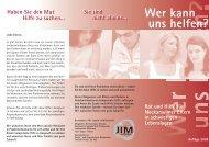 Flyer Eltern Deutsch - Kommunale Jugendarbeit Neckarsulm