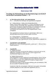 Sachstandsbericht 1998 - Kommunale Jugendarbeit Neckarsulm