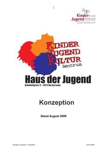 Konzeption - Kommunale Jugendarbeit Neckarsulm