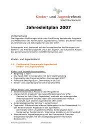 Jahresleitplan 2007 - Kommunale Jugendarbeit Neckarsulm
