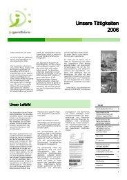Unsere Tätigkeiten Unsere Tätigkeiten 2006 - Das Jugendbuero der