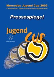 Pressespiegel - Mercedes Jugend Cup