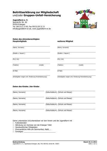 Mitgliedschaft - Jugendfarm Erlangen