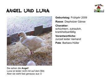 Tiersteckbriefe - Jugendfarm Erlangen