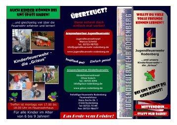 Werbeflyer der Jugend - Jugendfeuerwehr Rodenberg
