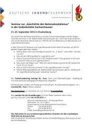 Ausschreibung und Anmeldebogen - Deutsche Jugendfeuerwehr
