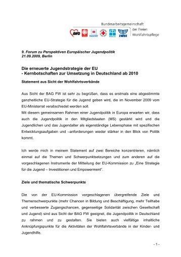 Kernbotschaften zur Umsetzung in Deutschland ab 2010