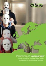 """Dokumentation """"Europareise"""" - JUGEND für Europa"""