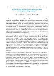 """Workshop """"Initiative für Europa – Chancen und Grenzen der ..."""