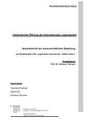 Gesamtbericht der wissenschaftlichen Begleitung - JiVE ...
