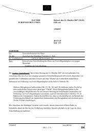 Entwurf einer Entschließung des Rates zur Freiwilligentätigkeit von ...