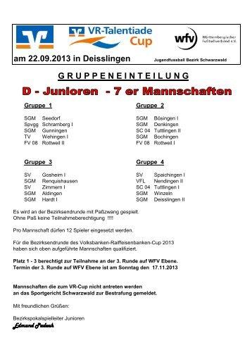 am 22.09.2013 in Deisslingen - Jugendfußball Bezirk Schwarzwald